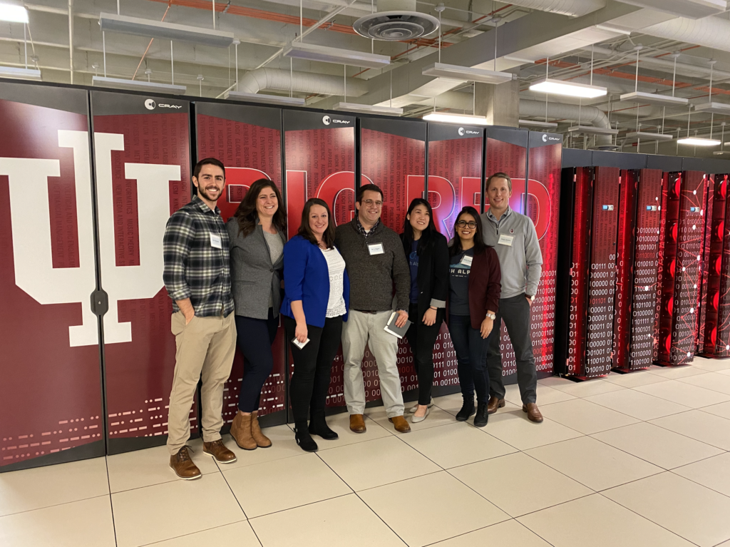The Pattern89 team with the IU Big Red 200 supercomputer.