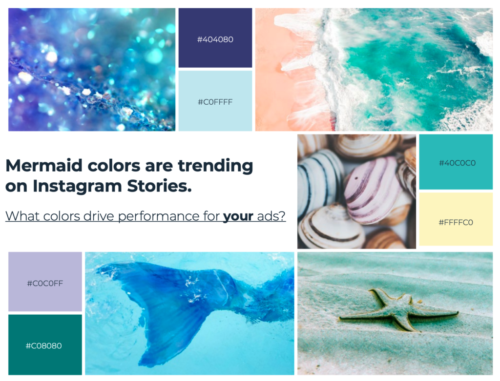 These colors are currently trending on dynamic creative ads on Instagram stories, but should you include them on another type of Instagram ad?